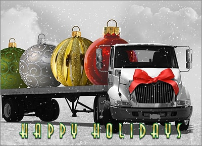 Trucking Company Holiday Cards Personalized For Your Business