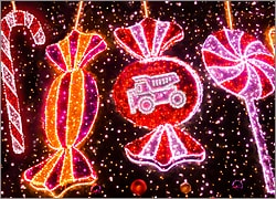 Dump Truck Christmas Lights
