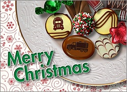 Tanker Christmas Candy Card