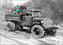 Truck Hauling Gifts