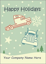 Trucking Snowfall Card