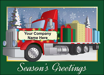 Big Rig Christmas Card (Glossy White)