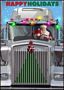 Truck Driver Christmas Card