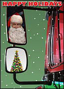 Truck Mirror Christmas Card