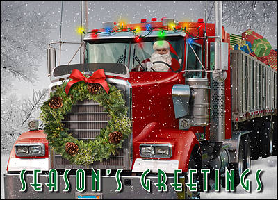 Trucking Holiday Card (Glossy White)